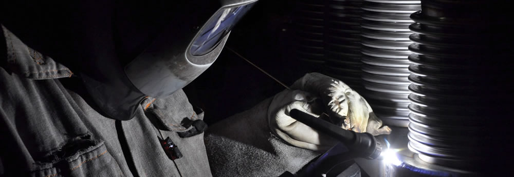Man using high quality welding products from Voestalpine Bohler